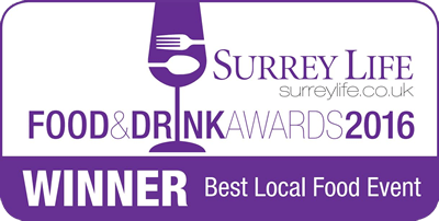 Surrey Life Food & Drink Awards 2016 - Winner, Best Local Food Event