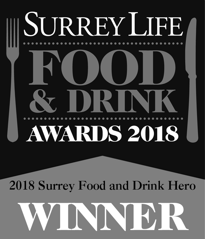 Surrey Life Food & Drink Awards 2018 - Winner, Surrey Food & Drink Hero